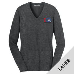LSW285 - W111E019 - EMB - Ladies V-Neck Sweater